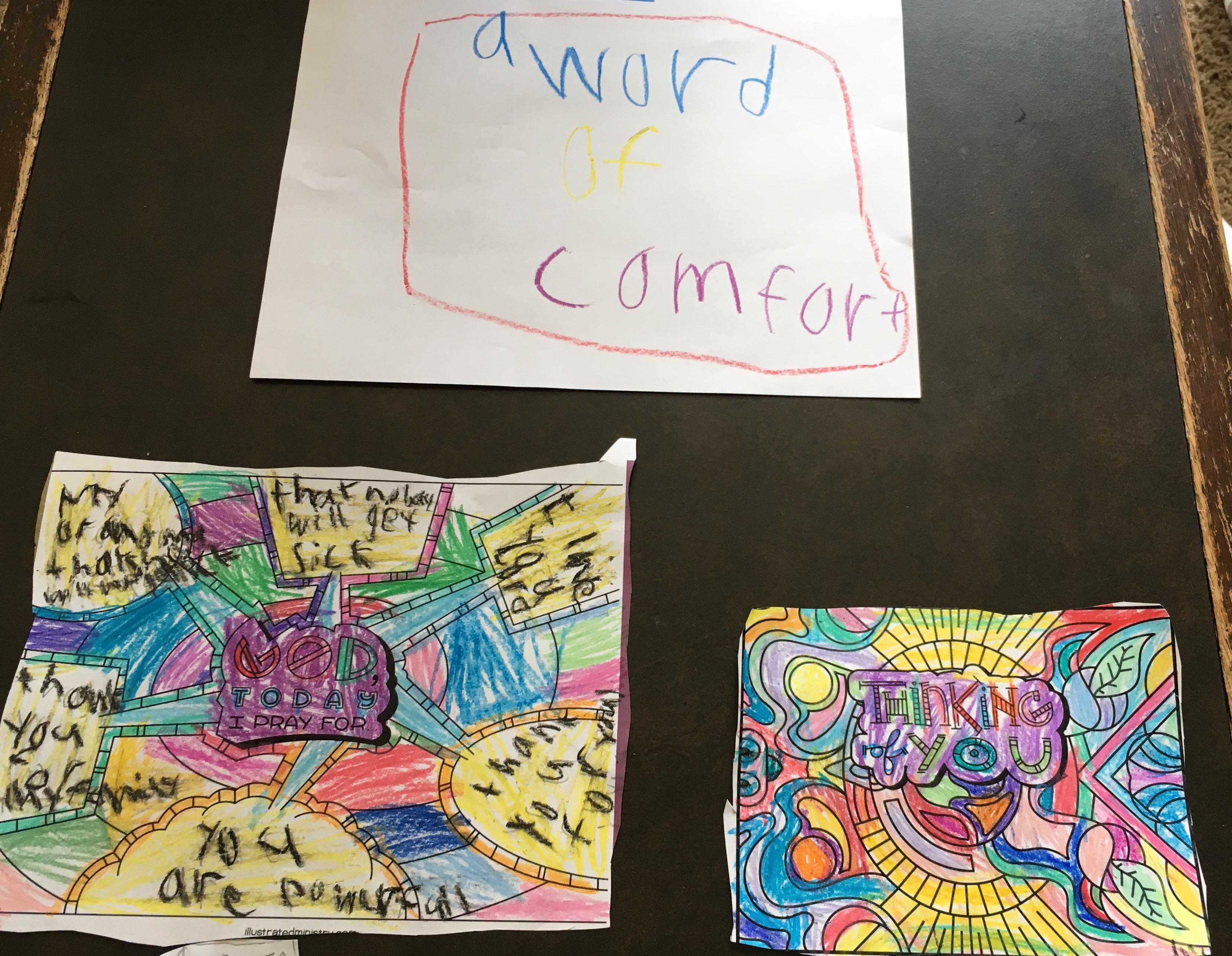 a word of comfort kid art